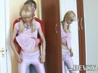 Blonde First Time Pigtail Teen