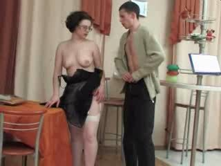 Amateur Glasses MILF Old and Young Russian Stockings