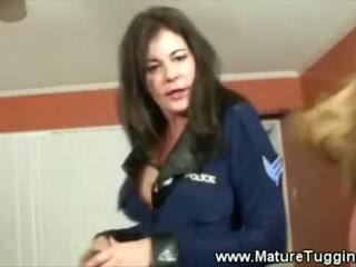 Hot mom tugs and sucks cock