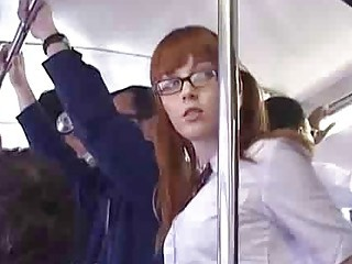 Japanese Schoolgirl Finger Fucked On Bus