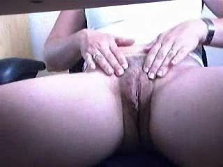 Under Desk Hidden Cam. My Mom Fingering