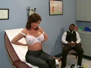 Big Tits Doctor Interracial Lingerie MILF Pornstar