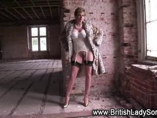 Amazing British European Lingerie MILF Stockings