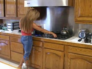 Blonde slut blowjob in her kitchen by iuli2011