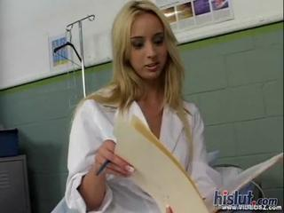 Babe Blonde Cute Doctor Uniform