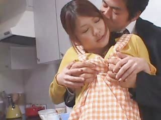Asian Babe Cute Japanese Kitchen Wife
