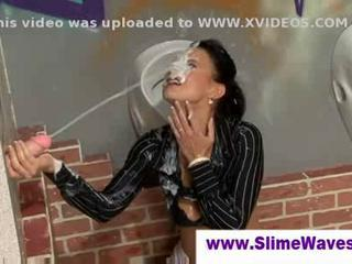 Lady gets completely covered in cum  Sex Tubes