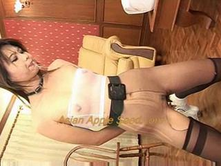 Asian MILF Pantyhose Slave Swallow
