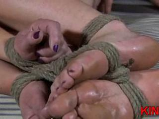 Blonde gagged chick in bondage Sex Tubes