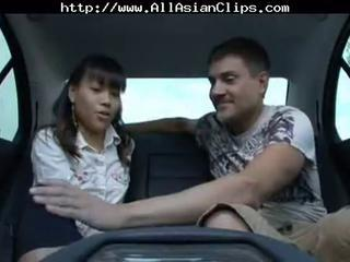 Amateur Asian Car Teen