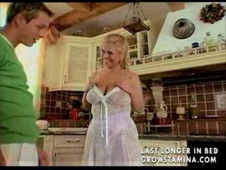 Big Tits Kitchen MILF Mom Natural Old and Young