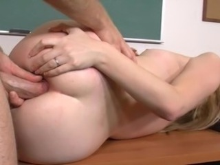Anal Blonde School Train