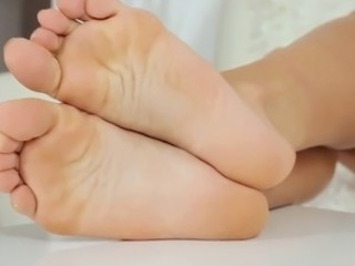 Sexy girl shows her sexy feet