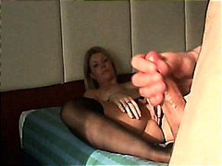Handjob Mom Stockings