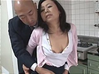 Japanese mom wants her son's friend's cock and gets it to fuck