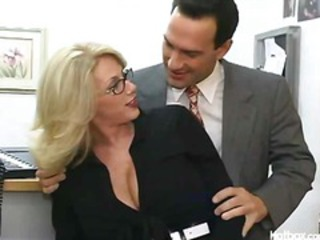 Glasses Interracial MILF Office Secretary