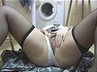 Bathroom Mature Panty Stockings