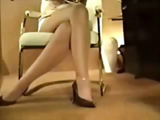 Pantyhose compilation of sexy gals tearing open the stockings for a lick and a fuck