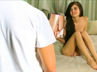 Sweet young brunette Zoey Kush doesn't need to masturbate when her boyfriend is handy