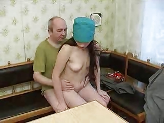 Amateur Daddy Daughter Nurse Old and Young Teen Uniform