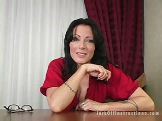 Hot Milf Boss Makes You Stroke Your Cock