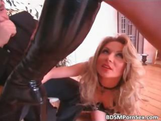 super blonde older  chick is dominated part1