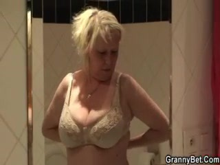 Big Boobs Granny Fucked Hard By Young