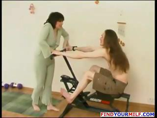 Amateur Mature Mom Old and Young Russian Sport