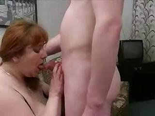 Big MILF from Europe sucks on a cock and then