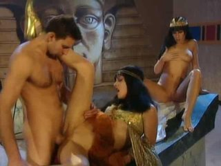 Julia Taylor in ancient Egypt getting hammered along wi