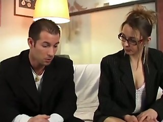 European French Glasses MILF Old and Young Wife