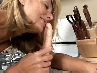 Dildo Kitchen MILF Toy
