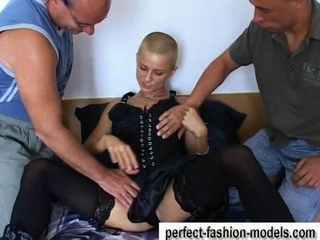 Babe Fetish Old and Young Stockings Threesome