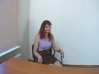 Amateur Casting MILF Office