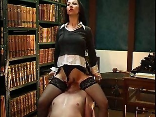 Chair Facesitting with Ass and Pussy Worship