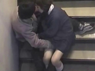 Voyeur Sexual relations Inside Of Building Stair
