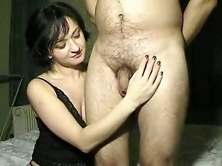 Amateur CFNM Handjob Homemade Small cock Wife