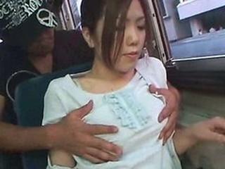 Asian Bus MILF Public