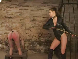 FUNNY CANING OF NAKED MAN
