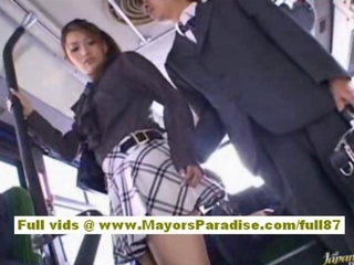 Asian Babe Bus Pornstar Public Skirt