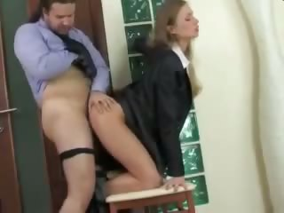 Babe Clothed Doggystyle Hardcore Russian Secretary