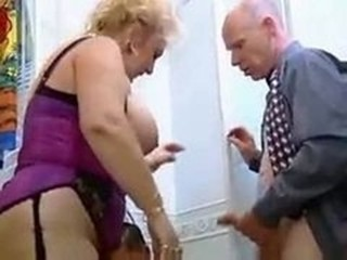 BBW Big Tits European German Lingerie Mature
