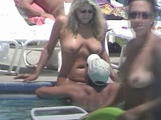MILF Nudist Outdoor Pool Public Voyeur