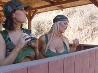 Army Big Tits MILF Outdoor Pornstar Uniform