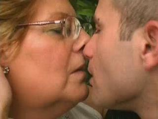 Glasses Granny Kissing