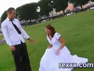 Russian Bride Gets Fucked By The Groom's Friends And Gets Facial