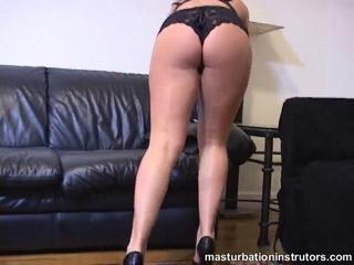 Jerk off teacher exercises while in bikini for a tease