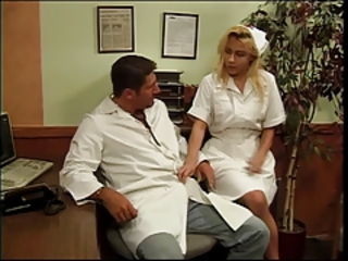 Big tits blonde nurse banged by the horny doctor