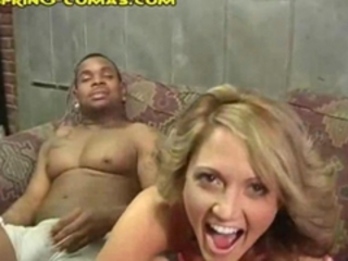 Blonde Interracial MILF Shaved