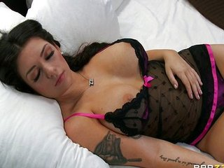 Amazing Big Tits Lingerie MILF Pornstar Sleeping Tattoo